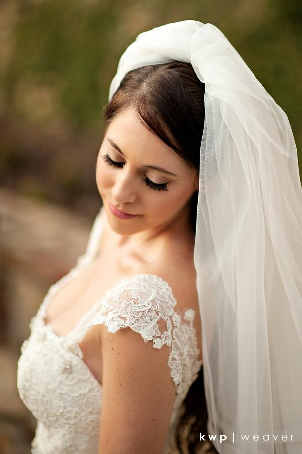 Beautiful Bride with lash extensions