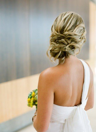 Beautiful Bride with wedding updo